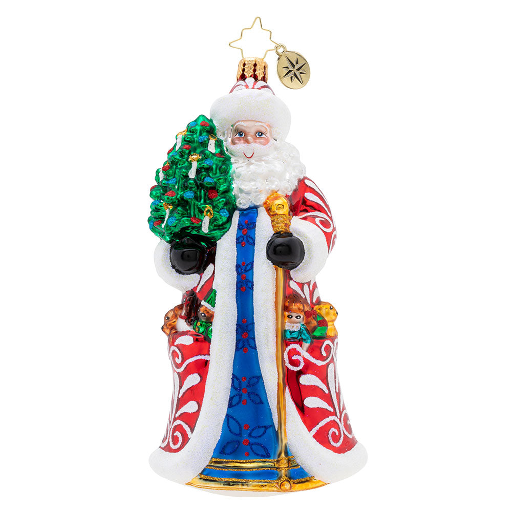 Christopher Radko Genteel Mr. Claus Santa Ornament New 2019