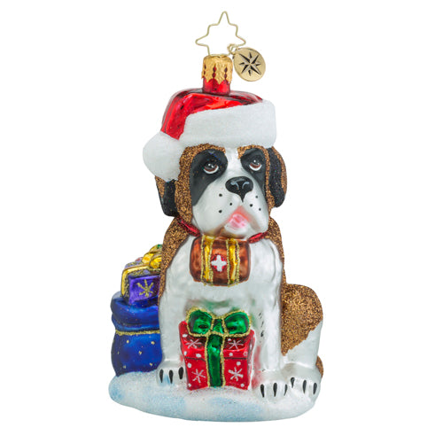 Christopher Radko Saint Bernard GENTLE GIANT Dog Ornament