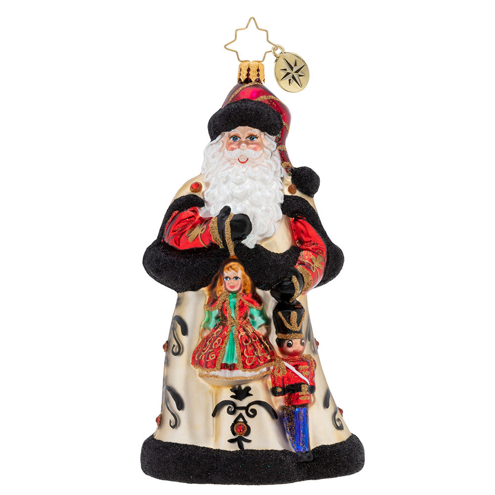 Christopher Radko Girl And Boy Toys Santa Ornament
