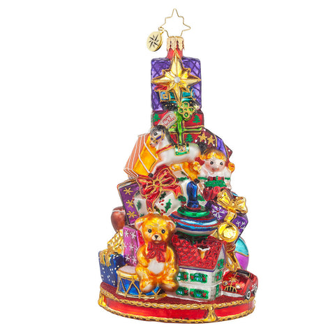 Radko GLORIOUS GIFT STACK Pile of Presents Christmas ornament NEW