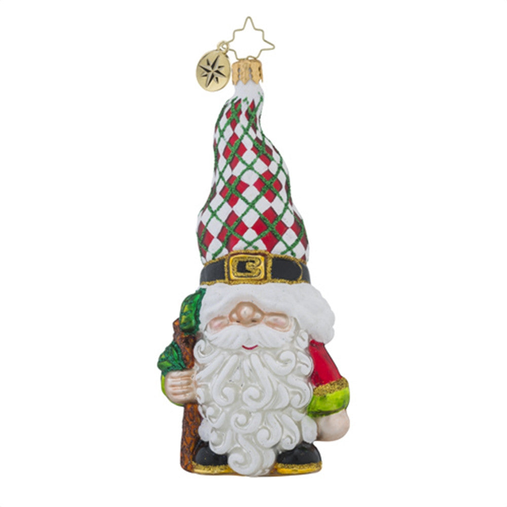 christopher radko radko gnome for the holidays santa elf christmas ornament new - Gnome Christmas Decorations
