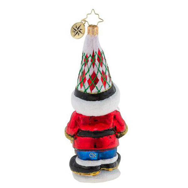 Christopher Radko Gnome Matter What Santa Elf Ornament