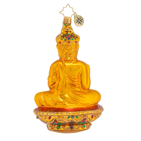 Christopher Radko Golden Serenity Buddha Ornament