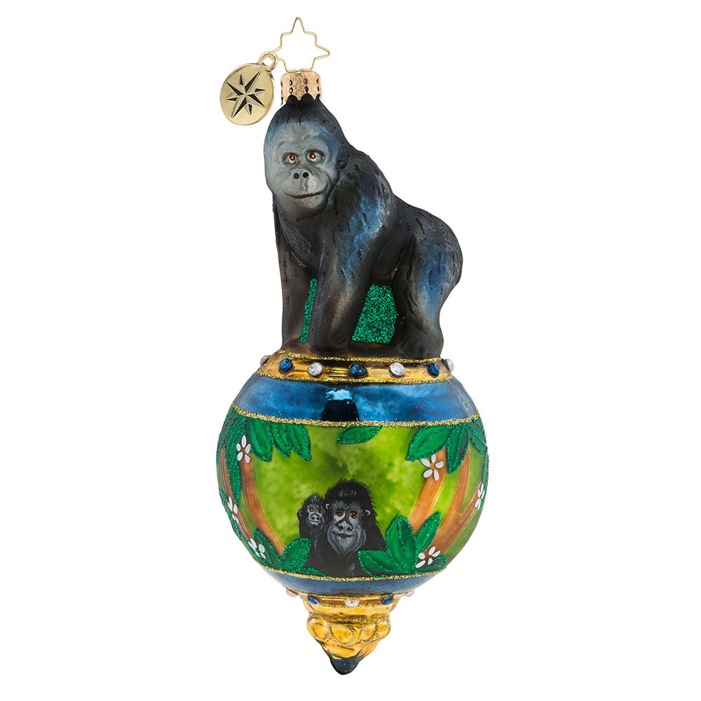 Christopher Radko Gorilla in Paradise Ornament