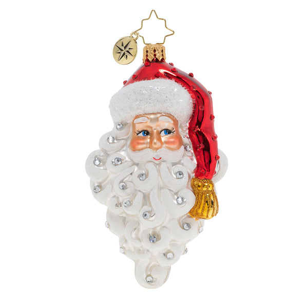Christopher Radko Grinning Santa Face Ornament
