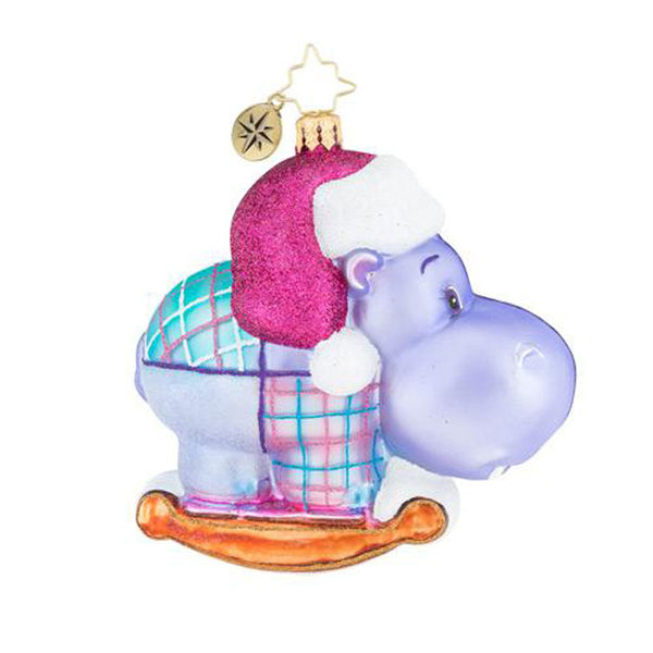 Christopher Radko Happy Holiday, Hippo! Ornament New 2018