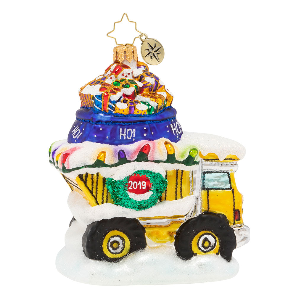Christopher Radko 2019 Dated Haulin' The Holidays Dump Truck Ornament