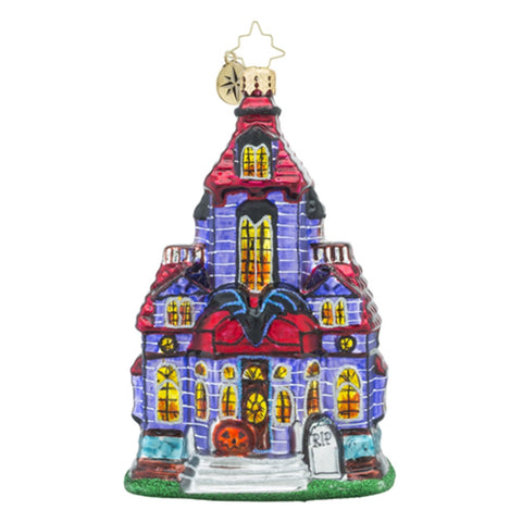 Radko Haunted Hangout House Mansion Halloween Ornament New