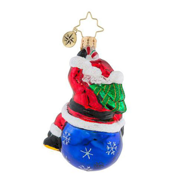 Christopher Radko  2018 Dated Having A Ball Little Gem Santa Ornament