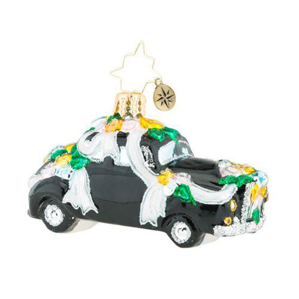Christopher Radko Heading To The Chapel Limo Gem wedding Ornament