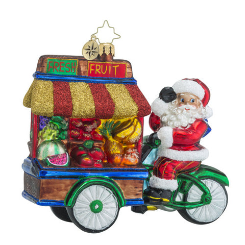 Radko Healthy Haul Delivery Bicycle Ornament New 2016