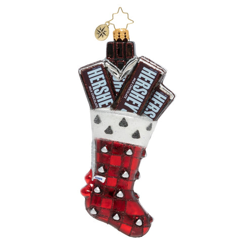 Christopher Radko Hersey's Kisses Stocking Candy Ornament New 2019