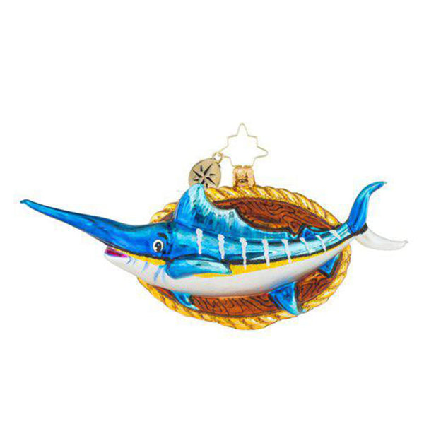 Christopher Radko Holiday Fish Tale Christmas Ornament