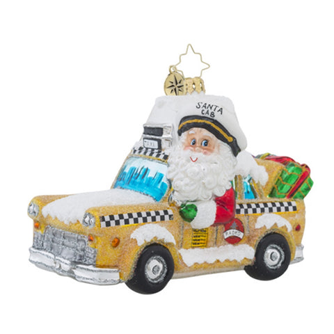 Radko Holiday on Broadway New York Taxi Ornament New