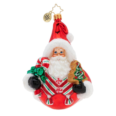 Christopher Radko Holiday Sphere Cheer Santa Ornament