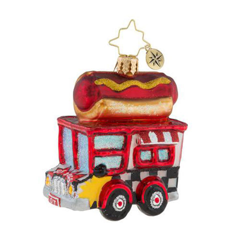 Christopher Radko Hot Diggity Dog Gem Food Truck Ornament