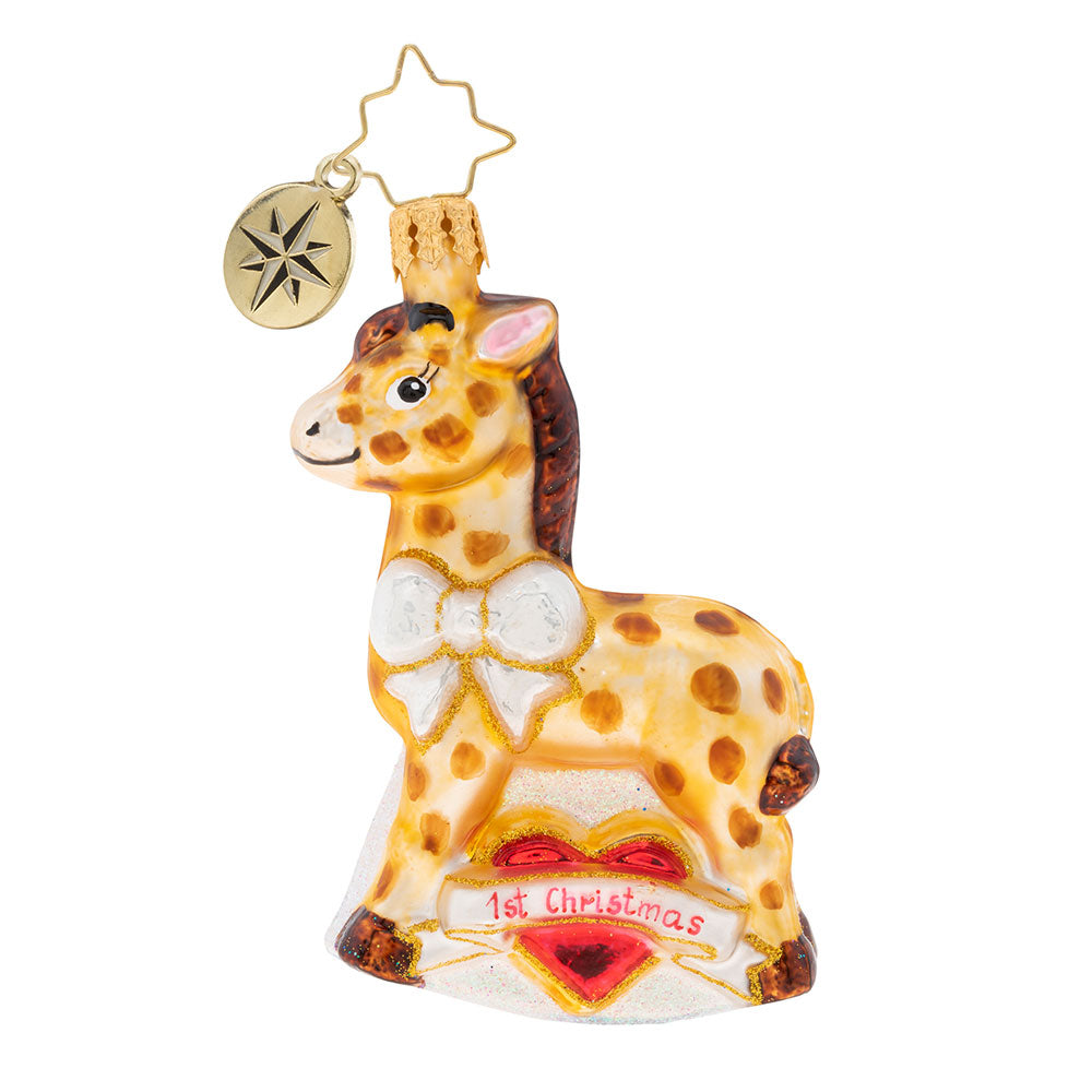Christopher Radko Baby I Spot My First Christmas Gem Giraffe Ornament