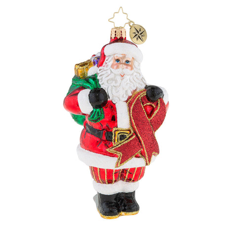 Christopher Radko 2018 AIDS Inspirational Aid Santa Ornament