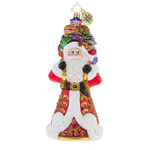 Christopher Radko It Ain't Heavy Santa ornament
