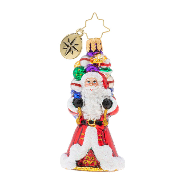 Christopher Radko It Ain't Heavy Gem Santa Ornament