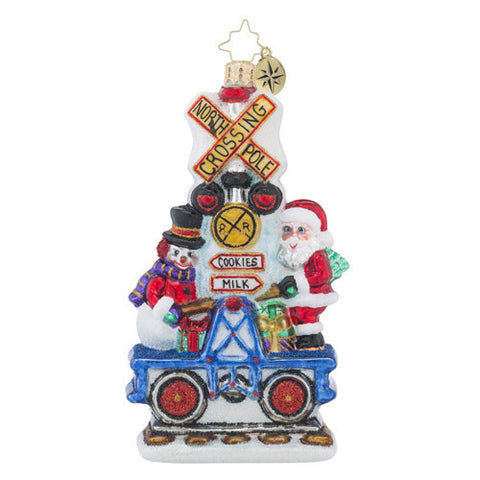 Radko It Takes Two Friends Train Christmas Ornament New SALE