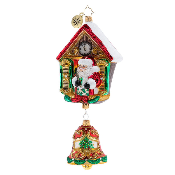 Christopher Radko It's Christmas Chime Clock Ornament