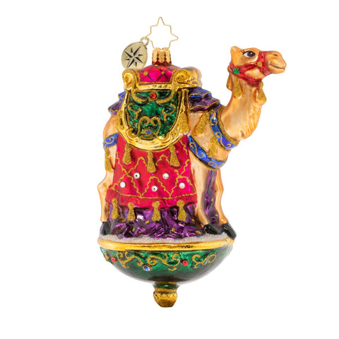 Christopher Radko ONE CHIC CAMEL Nativity Jeweled Ornament
