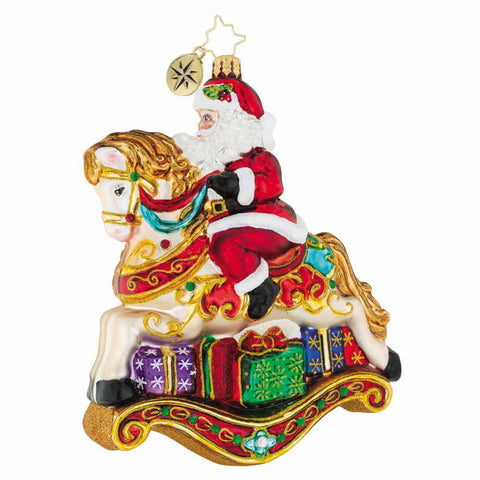 Christopher Radko Just Horsing Around Rocking Horse Ornament