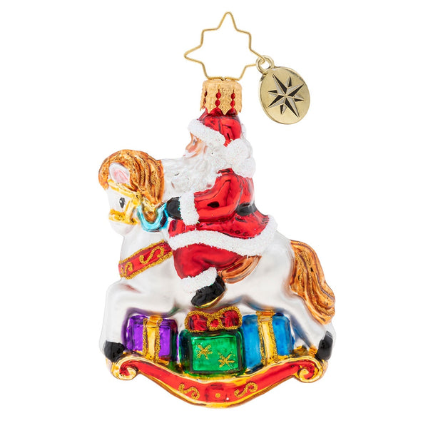 Christopher Radko Just Horsing Around Gem Rocking Horse Ornament