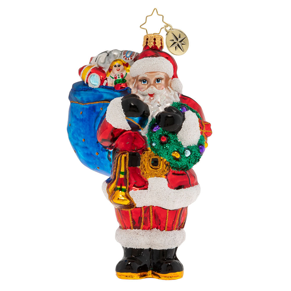 Christopher Radko Knick Knack Nick Nack Santa Ornament