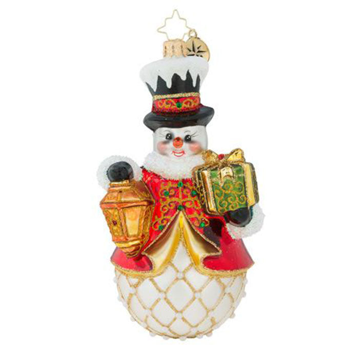 Christopher Radko Light The Way Snowman Ornament
