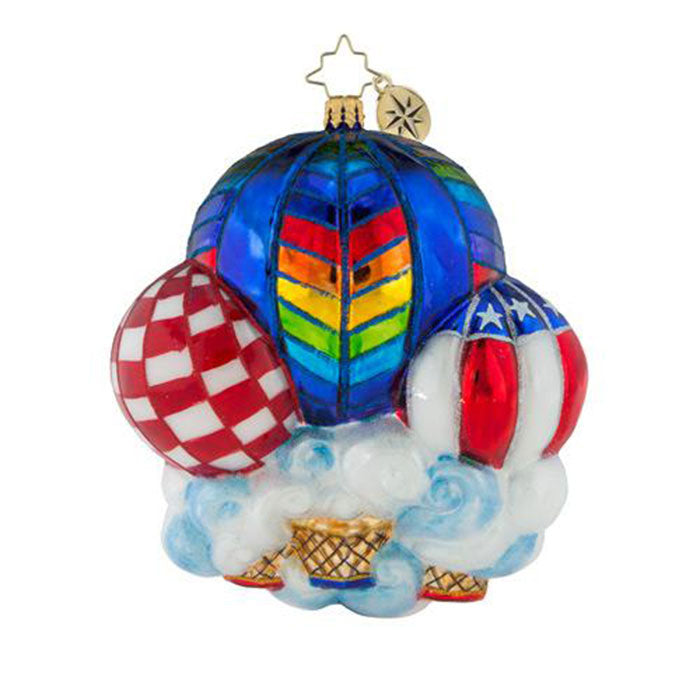 Christopher Radko Lighter Than Air Hot Air Balloons Ornament