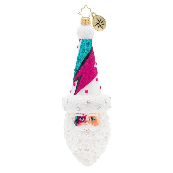 Christopher Radko Lightning Glam Nick David Bowie Santa Ornament
