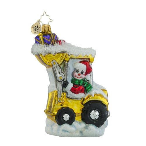 Christopher Radko LOAD EM UP Tractor Truck Christmas Ornament New