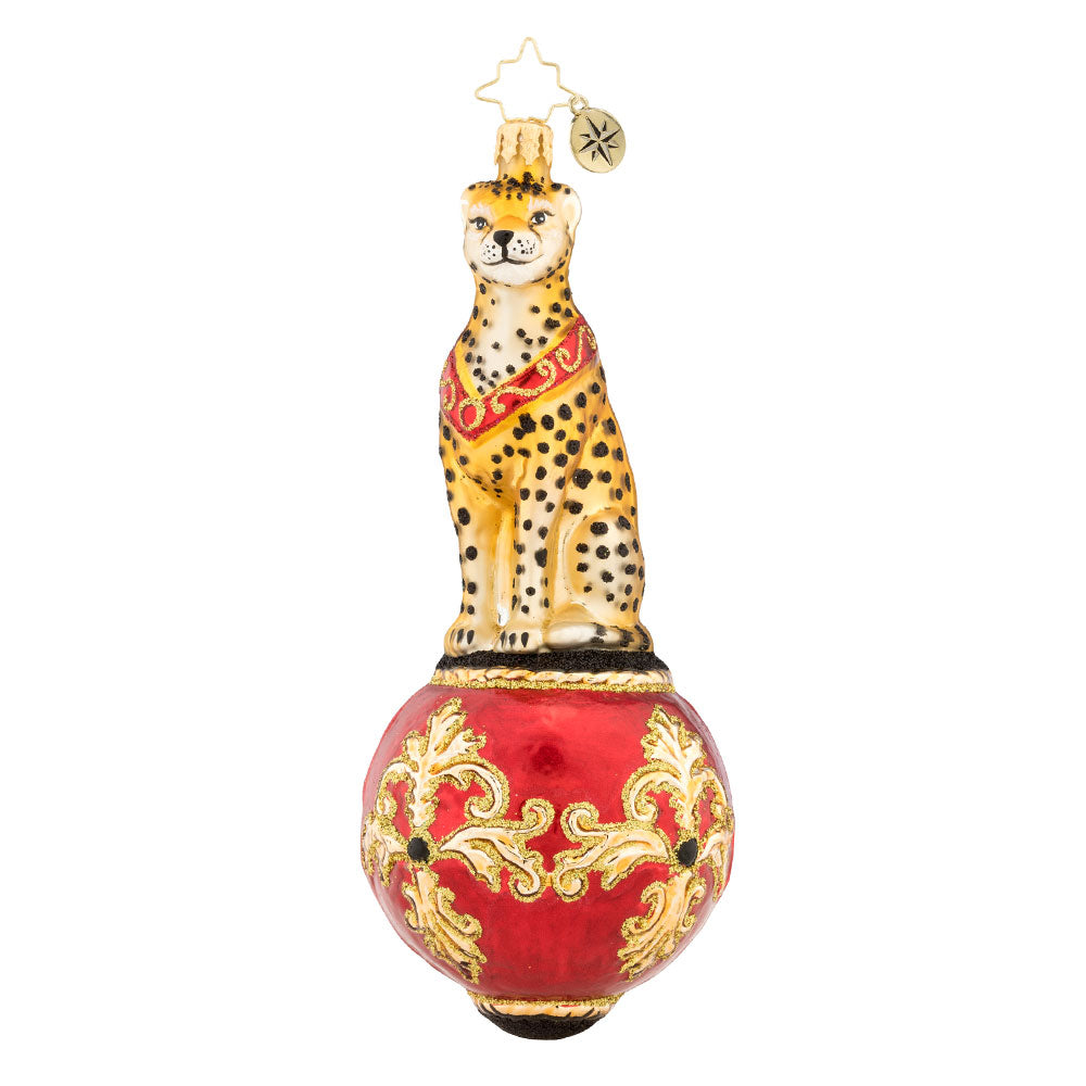 Christopher Radko Majestic Cheetah Jungle Ornament