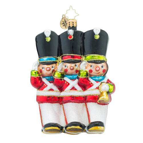 Radko MERRY MARCHERS Toy Soldiers Ornament NEW SALE