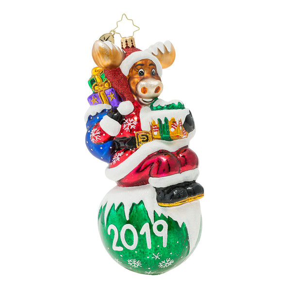 Christopher Radko 2019 Dated Merry Moose-mas Ornament