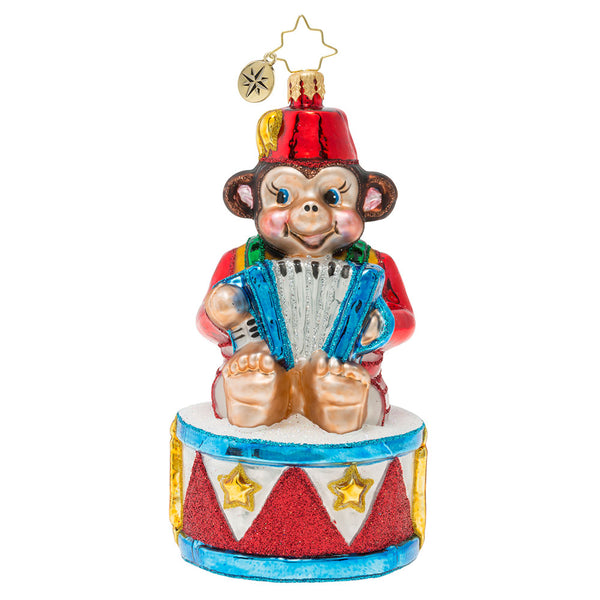 Christopher Radko Musical Monkey circus Ornament