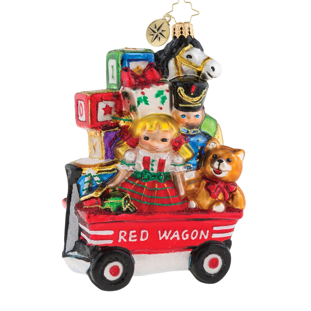 Christopher Radko My Little Red Wagon Kids ornament