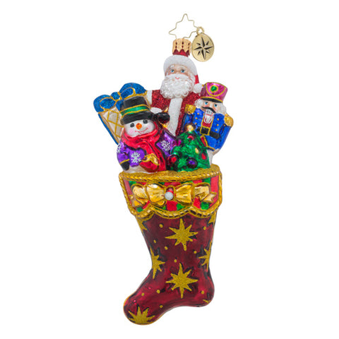 Christopher Radko NO COAL HERE Santa Stocking ornament