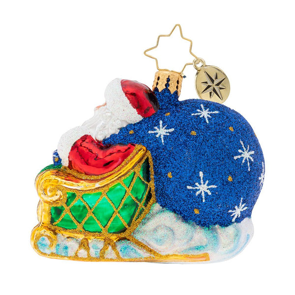 Christopher Radko 2019 Dated No Looking Back Santa Gem Ornament