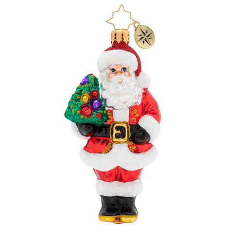 Christopher Radko Nordmann Fir Santa Ornament