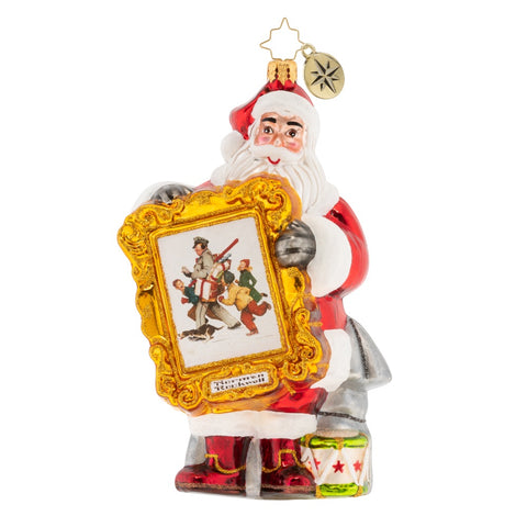 Christopher Radko A Rockwell Christmas Santa Ornament New