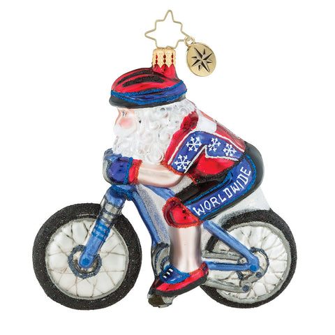Christopher Radko North Pole Bike Club Ornament New