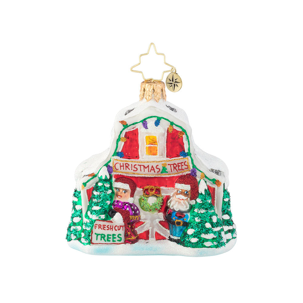 Christopher Radko North Pole Tree Farm Barn Gem Ornament