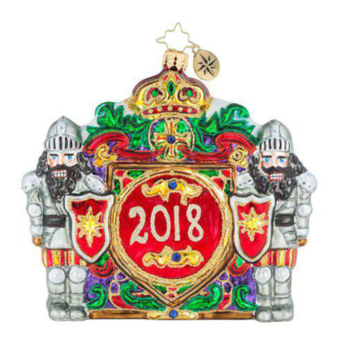 Christopher Radko 2018 Dated Nutty Castle Guard Ornament NEW
