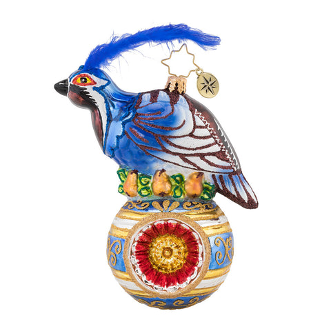 Christopher Radko On the First Day of Christmas Partridge Ornament