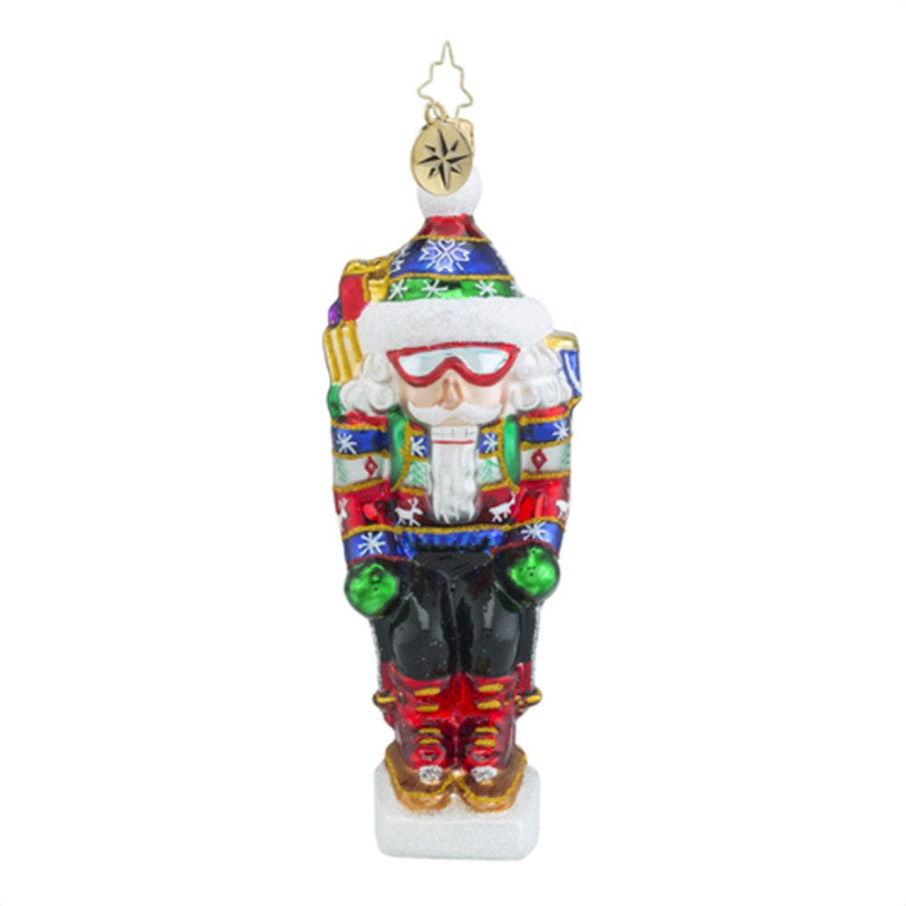 Christopher Radko On the Slopes Skiing Nutcracker Ornament