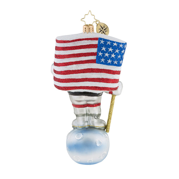 Christopher Radko One Giant Leap! Astronaut Ornament 2018