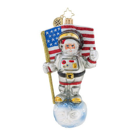 Christopher Radko One Giant Leap! Astronaut Ornament